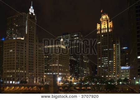 Tribune Tower And Wrigley Building Near Michigan Av Bridge