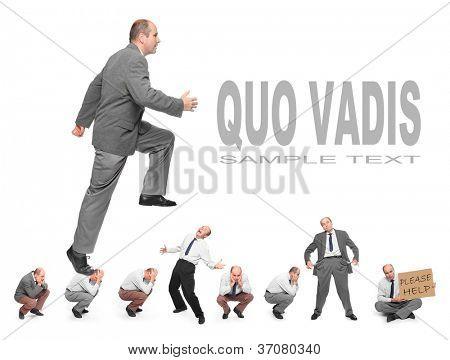 Erfolgreicher Geschäftsmann. Rivalität Geschäftskonzept. Bild mit Platz für Ihren Text.