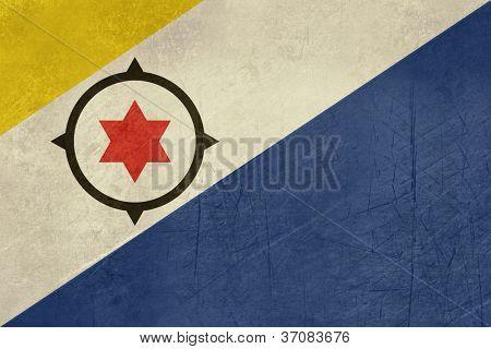 Grunge souveräner Staatsflagge abhängigen Landes von Bonaire in offiziellen Farben.