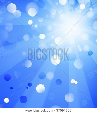 Bright blue blast abstract background.