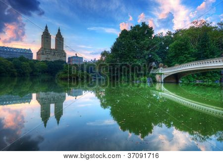The Lake in New York City's Central Park