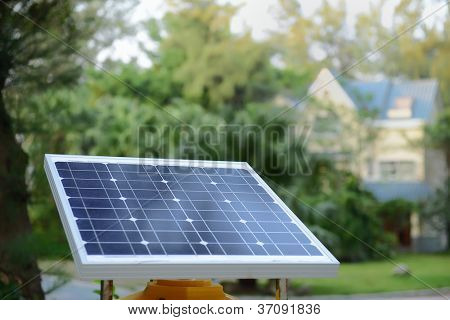 solar panels  with rural residence