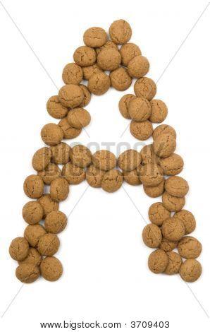 Ginger Nut Alphabet A