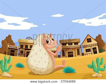 illustration of a bever in a house colony