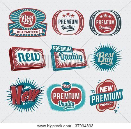 Retro vintage labels and badges