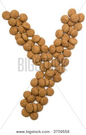 Ginger Nut Alphabet Y
