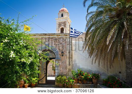 15th century monastery Moni Toplou on Crete, Greece