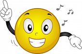picture of jive  - Illustration of a Grinning Smiley Dancing to Music - JPG