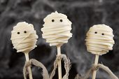 stock photo of mummy  - Mummy cake pops - JPG