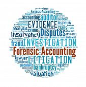 stock photo of interpreter  - Forensic Accounting in word collage - JPG