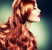 Rot Hair.Fashion Red Haired Girl Portrait.Hair Erweiterung