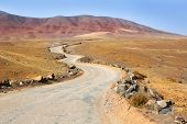 picture of papagayo  - Ajaches mountain road in Lanzarote Punta Papagayo at Canary Islands - JPG