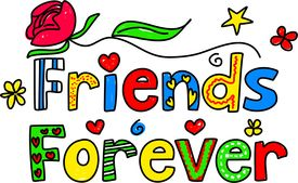 stock photo of  friends forever  - Simple but pretty decorative text message isolated on white - JPG