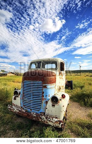 Old Truck Out In The Meadow