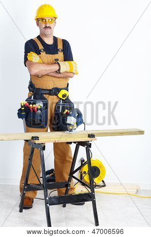 Mature Contractor. The Carpenter