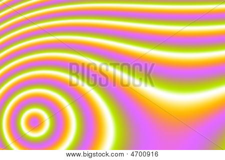Vivid Circles And Waves
