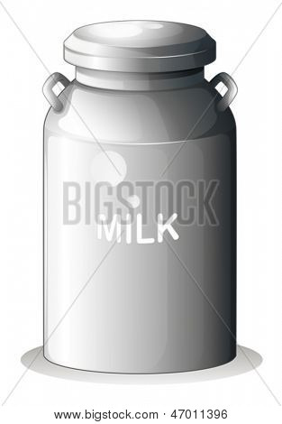 Illustration of a canned fresh milk on a white background