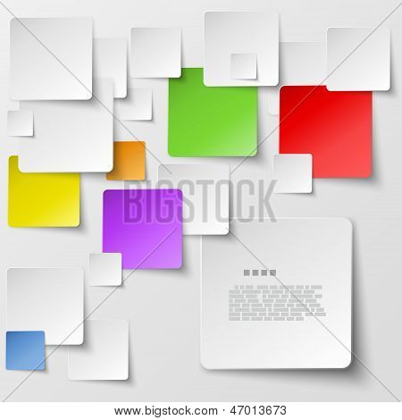 Plaza color azulejos Abstract Vector Background