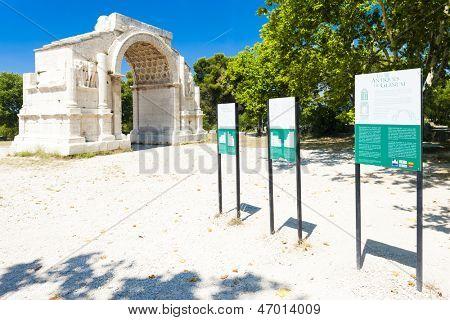 Roman Triumphal arch, Glanum, Saint-Remy-de-Provence, Provence, France