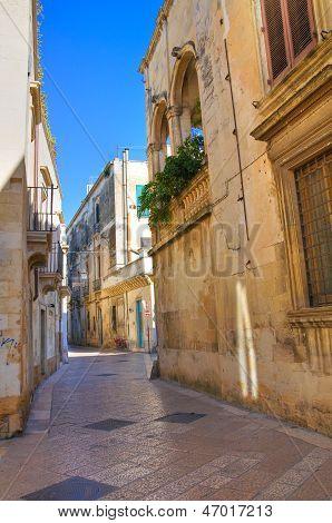 Alleyway. Lecce. Puglia. Italy.
