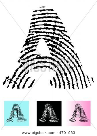 Fingerprint Alphabet Letter A