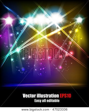 EPS10 Vector Stage Lights, easy all editable