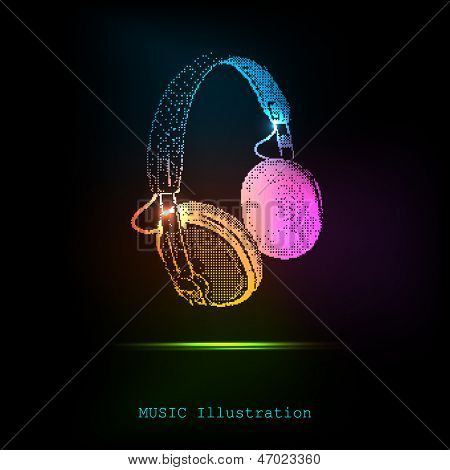 Vector Light Headphones, easy all editable