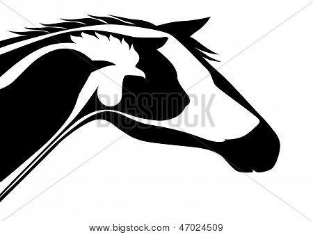 Black veterinary emblem