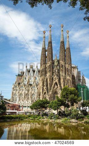 Catedral Sagrada Familia em Barcelona, Espanha