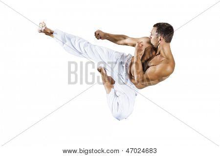 Una imagen de un maestro de Artes Marciales taekwondo