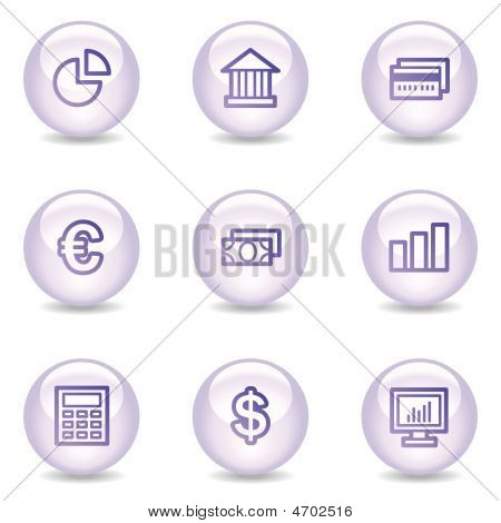 Finance Web Icons, Glossy Pearl Series