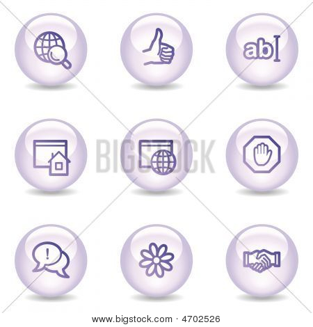 Internet Communication Web Icons, Glossy Pearl Series