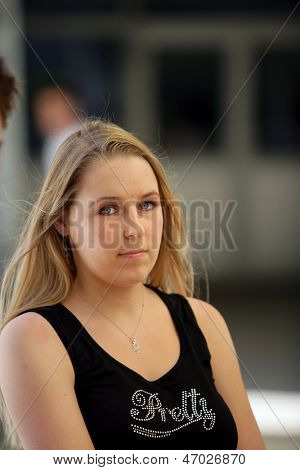 Portrait of an unemotional woman
