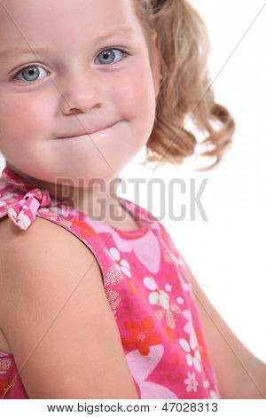 Girl with chubby cheeks