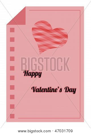 Happy Valentines Day - Red Paper List