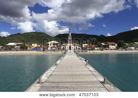 Village of Anses D'Arlet, Martinique island