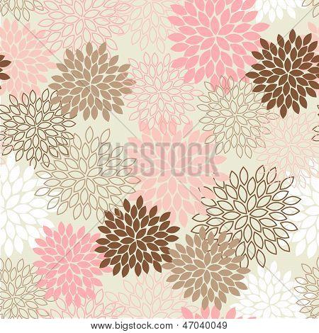 Seamless Mum Flower Background