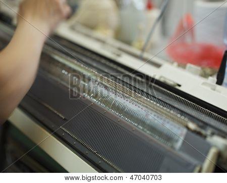 Image of modern equipment for knitting