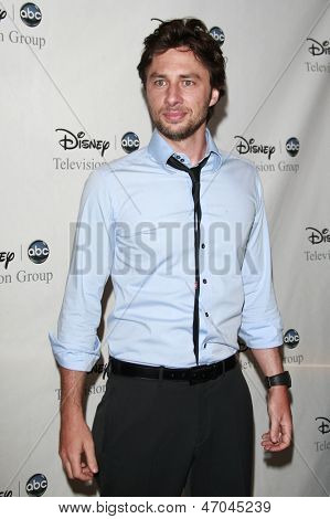 BEVERLY HILLS - JUL 12: Zach Braff at the Disney ABC Television Group Summer All Star party on July 12, 2008 in Beverly Hills, California.