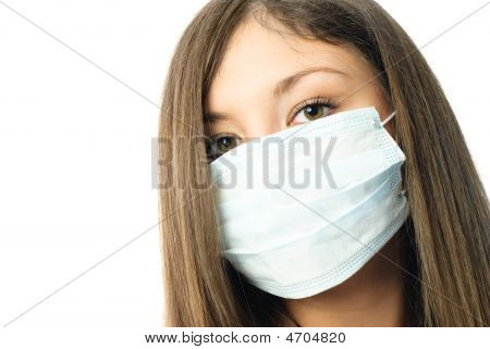 Hospital Worker Wearing Protective Mask