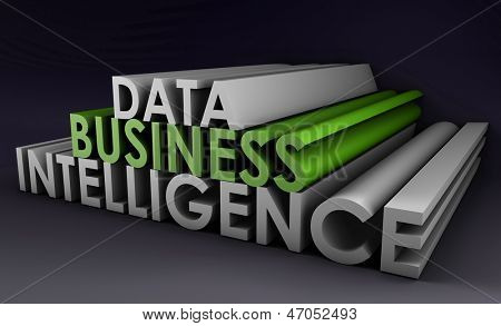 Business Intelligence von Datenanalyse in 3d