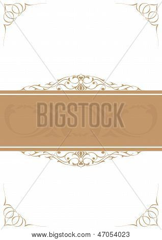 Brown Little Frames Over White Background
