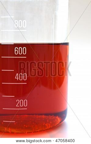 Graduated Glass Container With Liquid