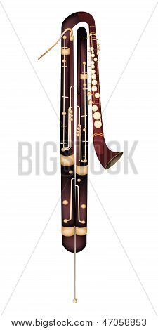 A Classical Contrabassoon Isolated On White Background