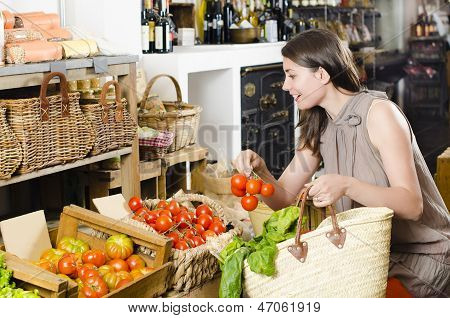 Shopping In A Rustic Store