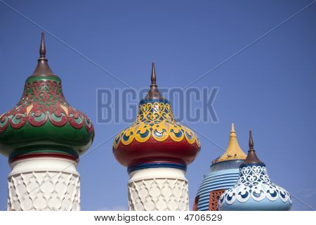 View Of Imperial Shaped Roofs In Oriental Style