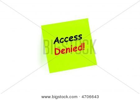Access Denied! On A Note