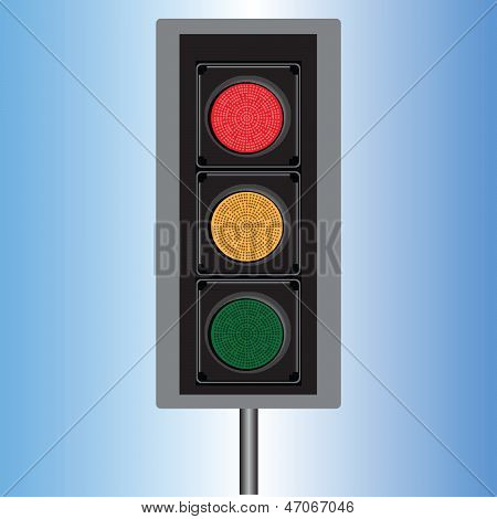 Traffic Lights Lights In Red