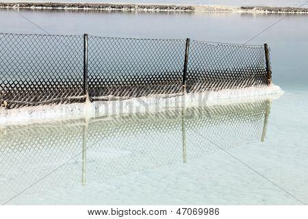 Dead Sea. Metal Mesh Fence