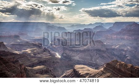 Sunlight in the Grand Canyon